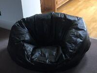 John Lewis Large Brown leather Bean Bag