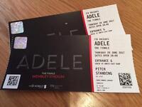 Adele 2 x Wembley Tickets Thursday 29th June