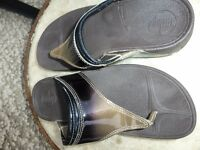 Fitflops Size 5.Patent Leather Uppers.Brown&Black-£15
