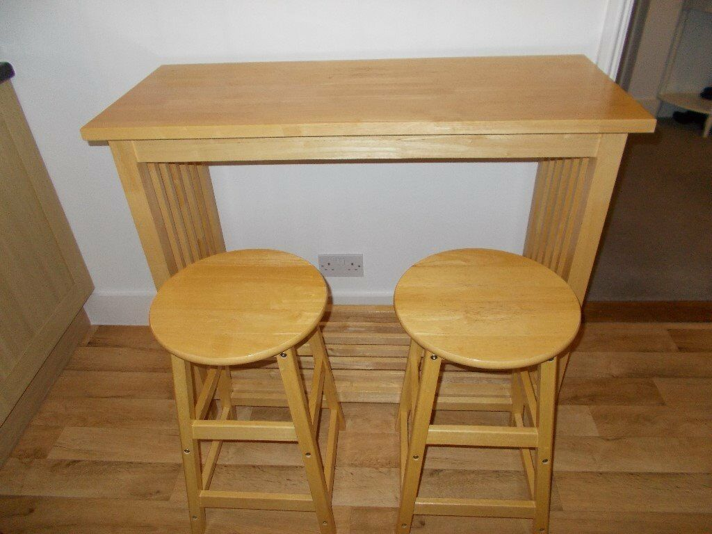 John Lewis Kitchen Bar Table And Two Stools In Lewisham