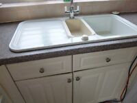 White kitchen units, doors & base units
