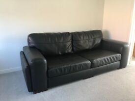 4 Seater leather sofa