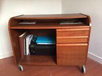 Brown wooden desk
