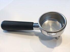 La Pavoni 49mm Double Portafilter Handle and basket | Europiccola pre-millennium