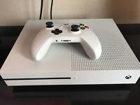 Xbox One S 2TB with one controller and game.