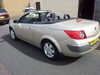 05 renault megane 1.6 dynamique.vvt,convertible*.full main dealer history*
