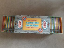 Thomas and Friends set of books and 4 dvds