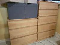 IKEA MALM CHESTS OF DRAWERS