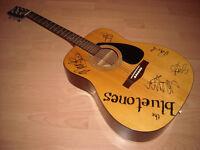 Yamaha FG310 acoustic guitar, signed by 'the Bluetones' £79