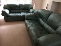 FREE Leather 3-seater sofas