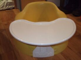 Bumbo seat with tray, yellow