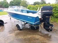 Broom speedboat speed boat outboard engine