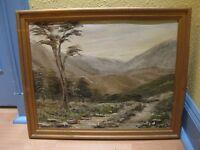 Oil painting - The Lairig Ghru - Jean R. F. Orr