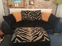 Barker and Stonehouse sofa and footstool