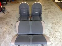 2015 FIAT 500 FRONT AND REAR SEATS