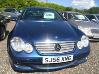 MERCEDES-BENZ C CLASS C160 SE 3dr MOT (NOVEMBER 2018) . GOOD LOOKING OLD GIRL �2400 (blue) 2006