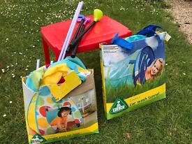 Kids tent, tunnel, table and golf clubs!