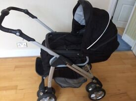 Silver cross freeway pram/pushchair excellent cond baby bag cosytoes and rain canopy £150 Ono
