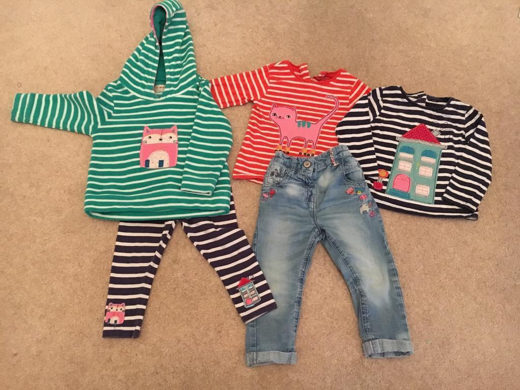 Next bundle 12 18 months jeans, leggings and coordinating topsin Weymouth, DorsetGumtree - Next bundle 12 18 months jeans, leggings and coordinating tops. Worn but still in great condition. Happy clothes for happy girls! Open to offers and other pieces at home