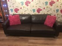 FREE if picked up today John Lewis leather sofa , high quality