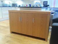 Solid Oak Sideboard / Unit