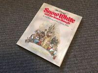 walt disney snow white and the seven dwarfs making of 50th anniversary hardback book rare