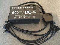 Pedal board 5 port power supply 9V