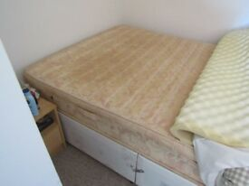 Double bed and mattress good condition hardly used buyer collects