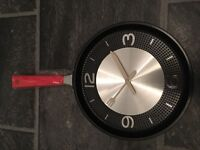 Frying Pan Kitchen Clock