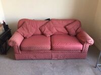M&S Sofa - Red, 3-seater - MUST GO ASAP