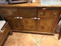 Large Dining Table, Chairs & Sideboard