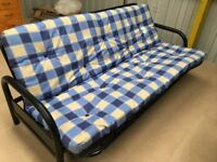 Metal action futon sofa guestbed