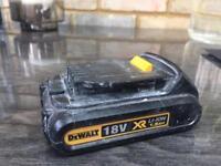 DeWalt 18V XR Li-ion 1.5AH battery