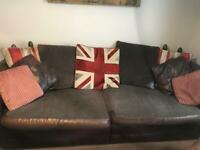 Barker & Stonehouse 4 and 3 seater sofas