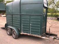 Rice twin axle 2 horse box trailer