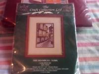 New long stitch kit by the craft collection.Kit is of The Shambles-York.