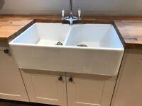 Rangmaster Double Belfast Ceramic Kitchen Sink