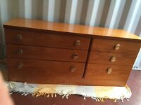 Stag, teak chests of drawers