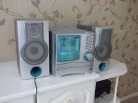 Aiwa HiFi unit with speaker, radio, and triple CD player