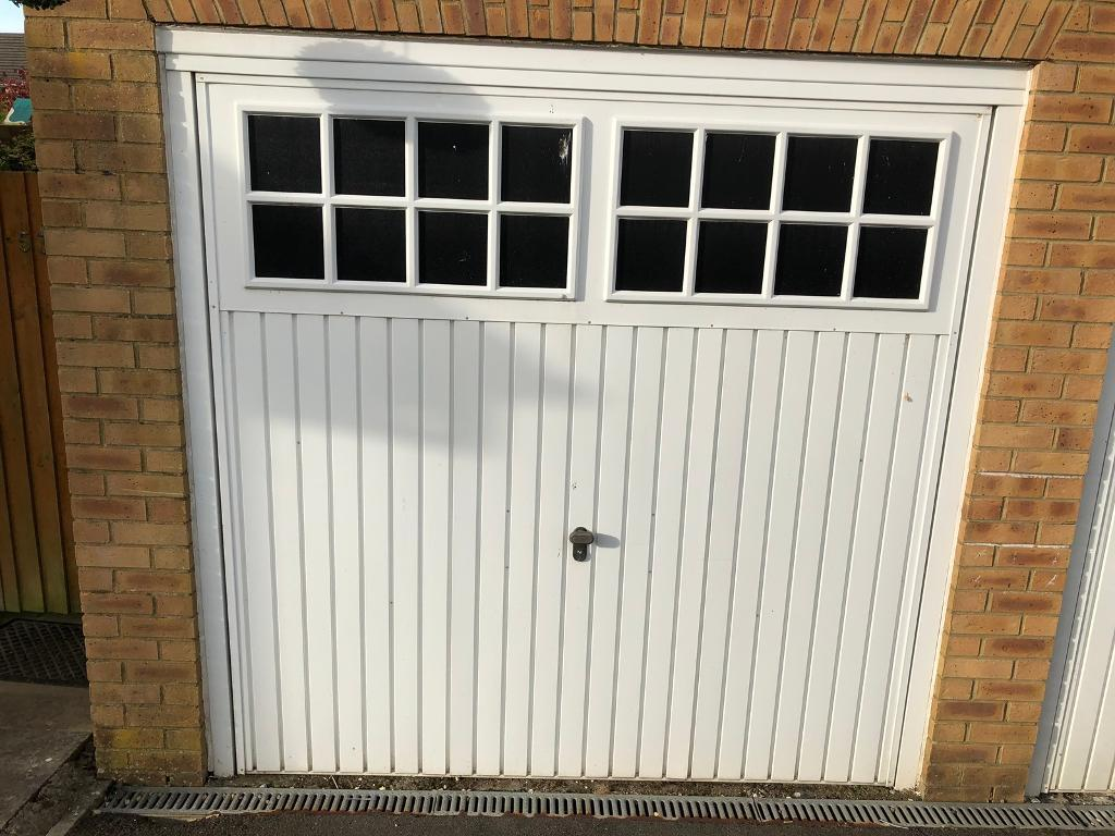 White Henderson up and over 7\' x 7\' Garage Door. Price includes ...