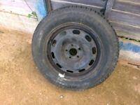 Alloy Rim and Tyre 195 65 R15