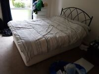 Double bed with duvet
