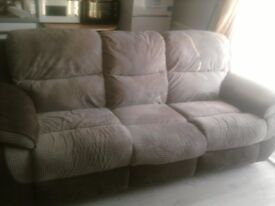 Electric 3 Seater Recliner Sofa. 4 Months Old. Perfect Working Order. Only Selling As Moved To Flat.