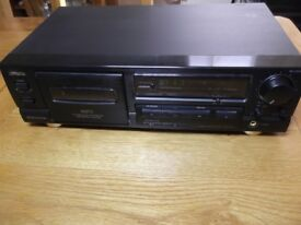 Aiwa AD-F450 hi-fi stereo cassette recorder with new belt fitted