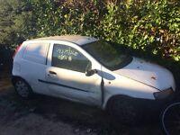 Fiat punto van damaged sold for spares or scrap
