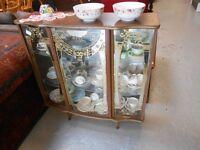 Vintage glass display cabinet