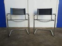 PAIR OF DESIGNER MART STAM CHAIRS / MADE IN ITALY CANTILEVER ARMCHAIRS DELIVERY AVAILABLE