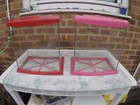 Two small fish tanks 16L £10 for both (Sheppey)