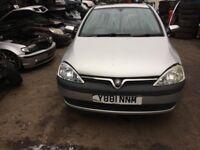 2001 Vauxhall Corsa Comfort 12V 3dr Hatchback 1L Petrol Silver BREAKING FOR SPARES