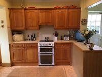 Solid Oak kitchen for sale at modest cost